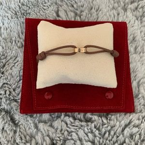 Auth. Cartier 18k Rose Gold Cord Bracelet ✨
